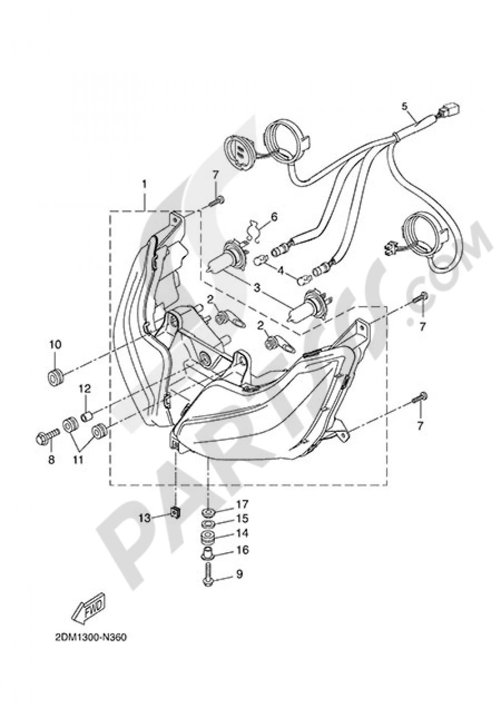 FRONT LIGHT Yamaha X-Max 125 MOMO 2015
