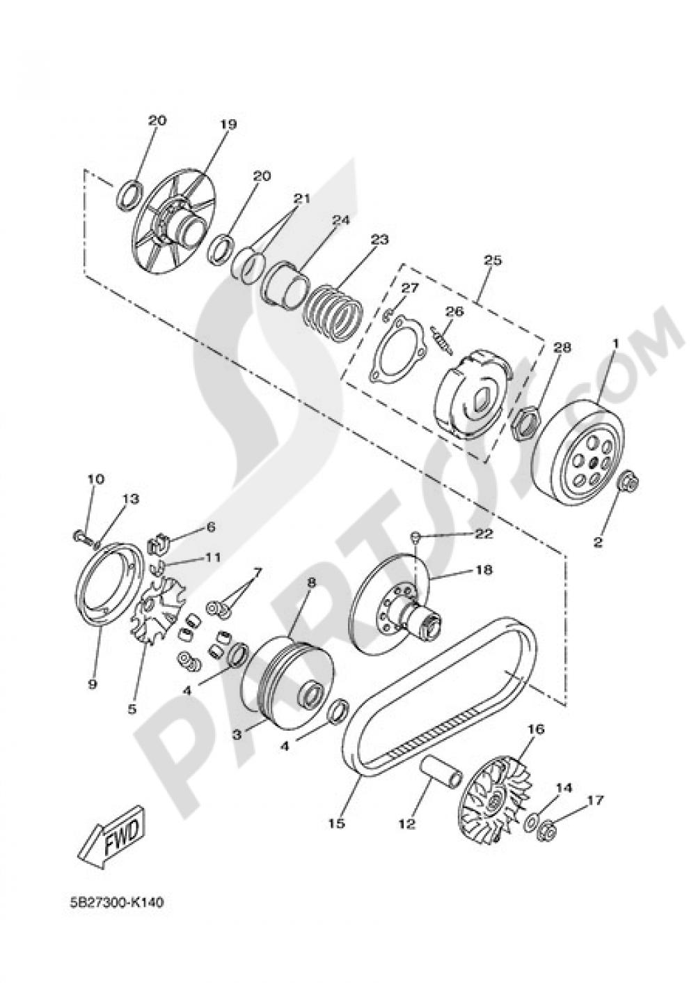 CLUTCH Yamaha X-Max 250 ABS 2014