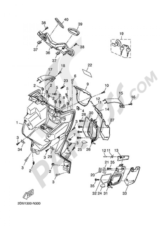 SIDE STAND Yamaha X-Max 250 ABS 2014