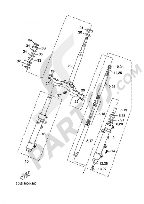STEERING Yamaha X-Max 250 ABS 2015