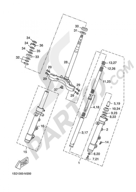 STEERING Yamaha X-Max 400 2015