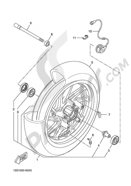 FRONT WHEEL Yamaha X-Max 400 2015