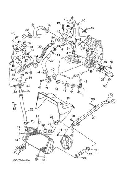 Yamaha X-Max 400 ABS 2015 RADIATOR AND HOSE