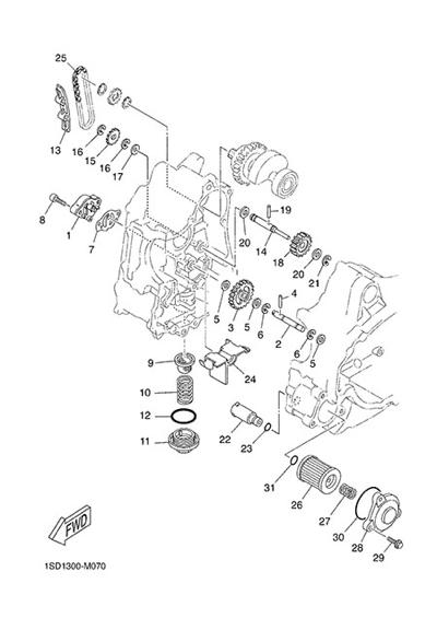 Yamaha X-Max 400 ABS 2015 OIL PUMP