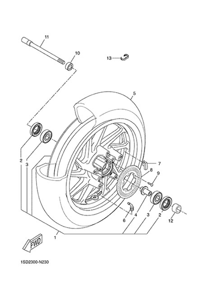 Yamaha X-Max 400 ABS 2015 FRONT WHEEL
