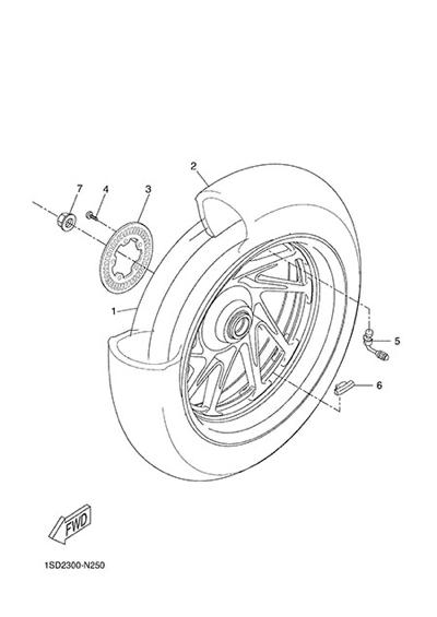 Yamaha X-Max 400 ABS 2015 REAR WHEEL