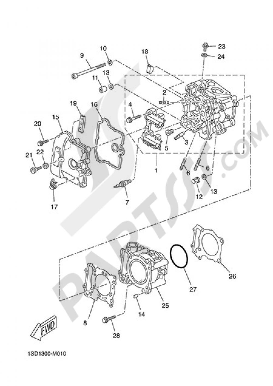CYLINDER Yamaha X-Max 400 ABS 2014