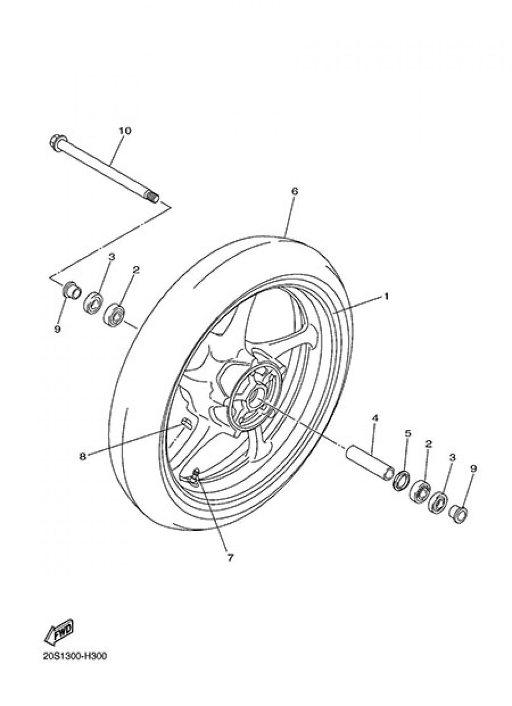 FRONT WHEEL Yamaha XJ6 2014
