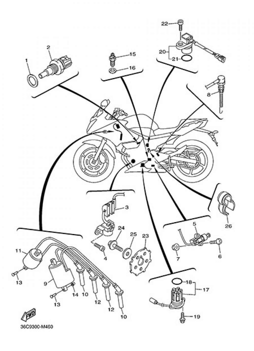 ELECTRIC EQUIPMENT 1 Yamaha XJ6 Diversion 2014