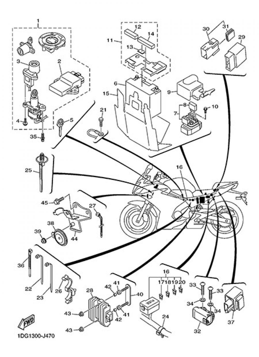 ELECTRIC EQUIPMENT 2 Yamaha XJ6 Diversion F ABS 2015