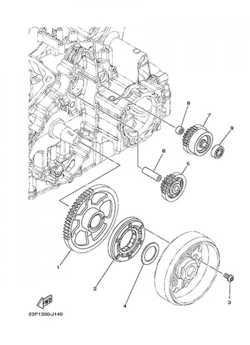 STARTER CLUTCH Yamaha XT1200Z SuperTenere 2014