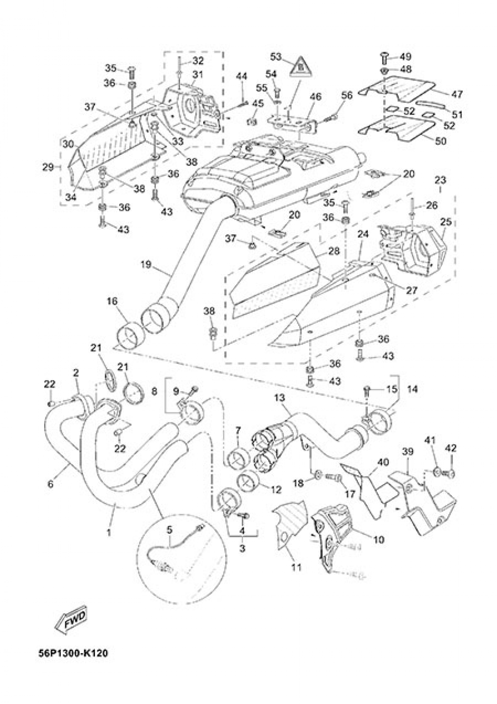 EXHAUST Yamaha XT660Z Tenere ABS 2013