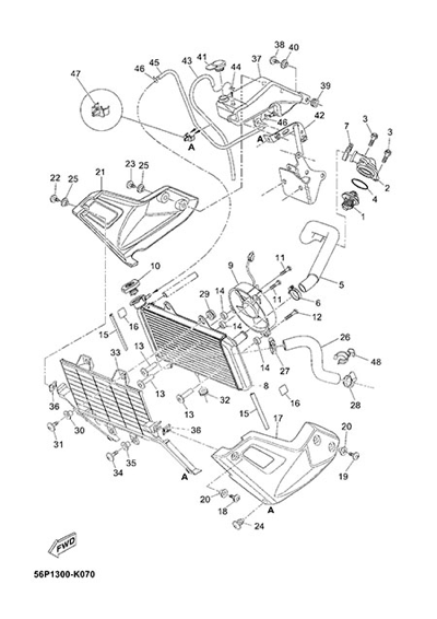 Yamaha XT660Z Tenere ABS 2015 RADIATOR AND HOSE