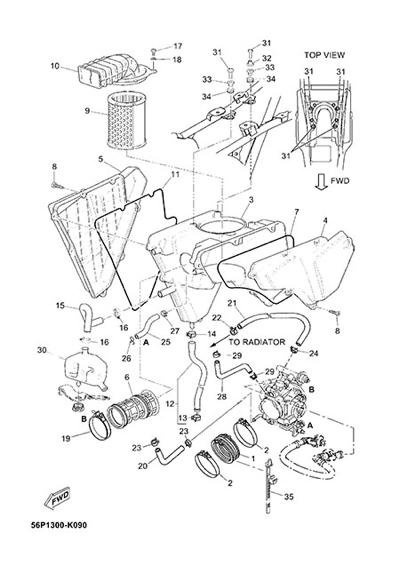 Yamaha XT660Z Tenere ABS 2015 INTAKE