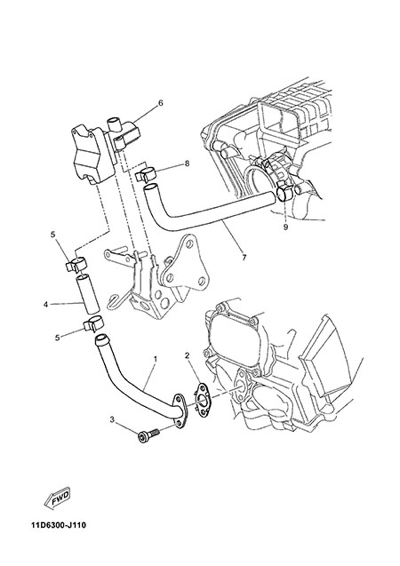 Yamaha XT660Z Tenere ABS 2015 AIR INDUCTION SYSTEM