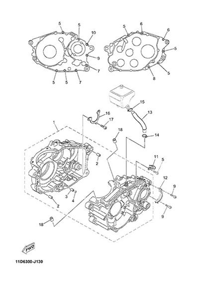 Yamaha XT660Z Tenere ABS 2015 CARTER