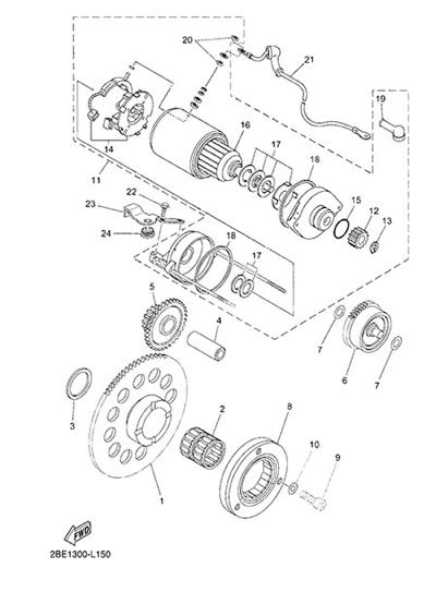 Yamaha XT660Z Tenere ABS 2015 STARTER