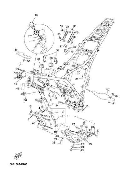 Yamaha XT660Z Tenere ABS 2015 FRAME