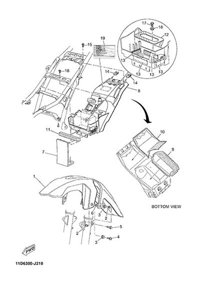 Yamaha XT660Z Tenere ABS 2015 FENDER