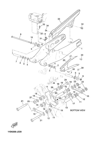 Yamaha XT660Z Tenere ABS 2015 REAR ARM