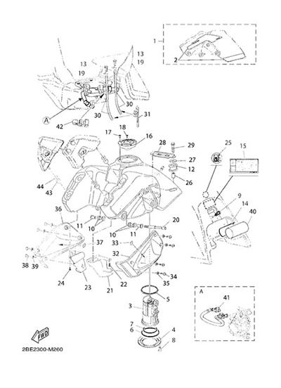 Yamaha XT660Z Tenere ABS 2015 FUEL TANK