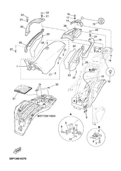Yamaha XT660Z Tenere ABS 2015 SEAT