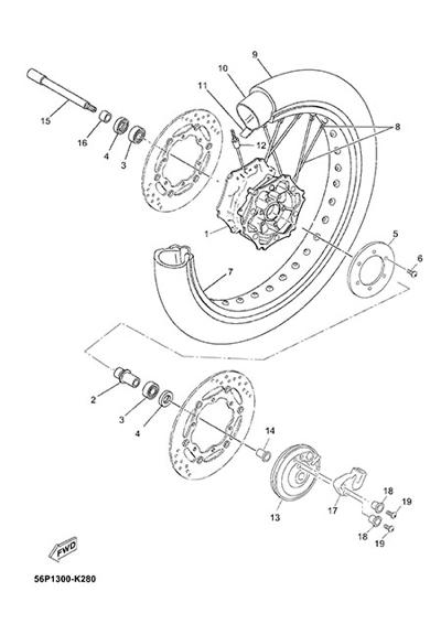 Yamaha XT660Z Tenere ABS 2015 FRONT WHEEL