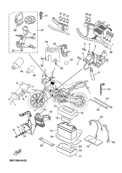 Yamaha XT660Z Tenere ABS 2015 ELECTRIC EQUIPMENT 1