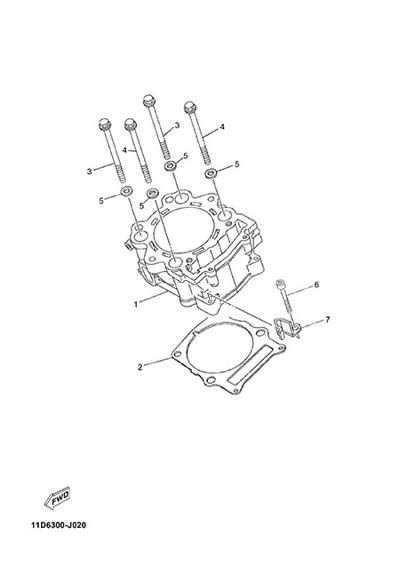 Yamaha XT660Z Tenere ABS 2015 CYLINDER