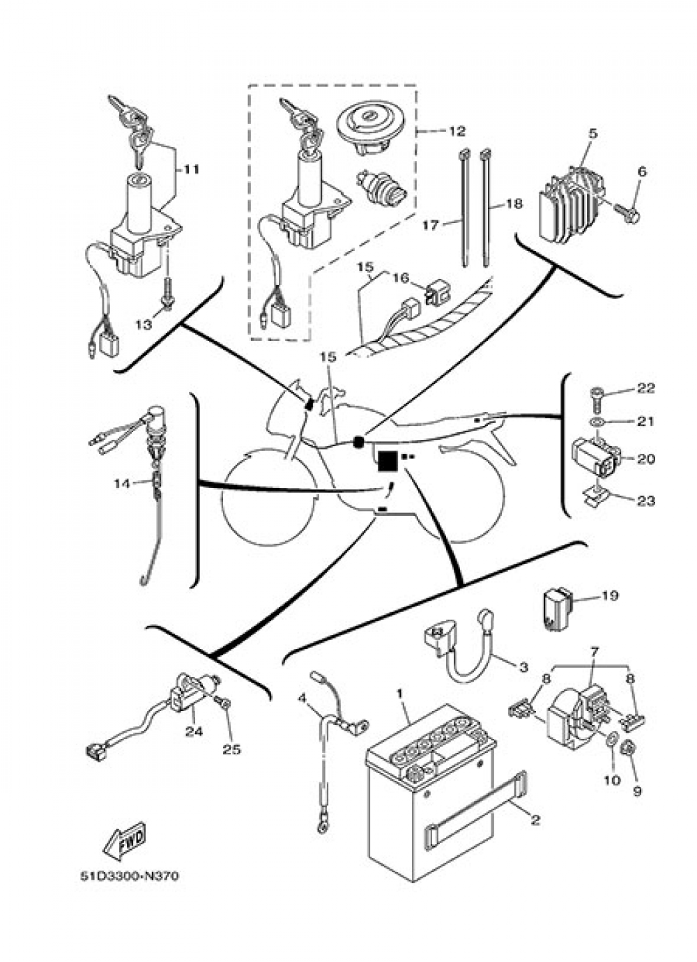 ELECTRIC EQUIPMENT 1 Yamaha YBR125 2014