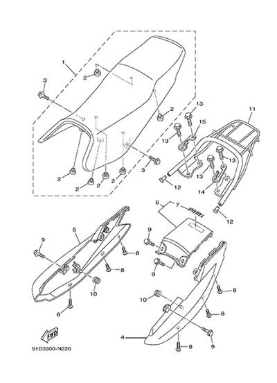 Yamaha YBR125 2014 Dissassembly sheet  Purchase genuine spare parts
