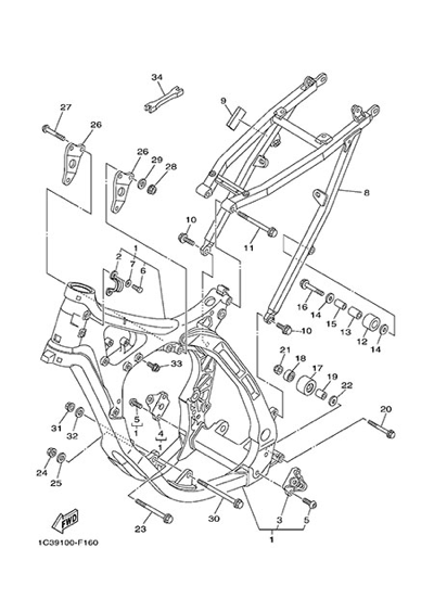 Yamaha Yz125 2013 Dissassembly Sheet Purchase Genuine Spare Parts