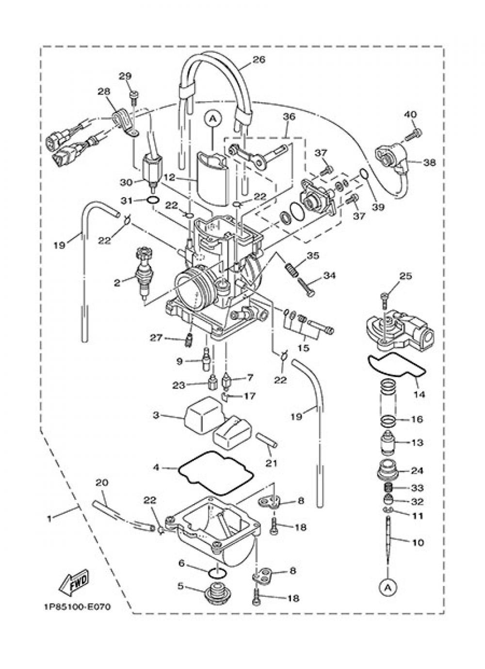 CARBURETOR Yamaha YZ250 2015