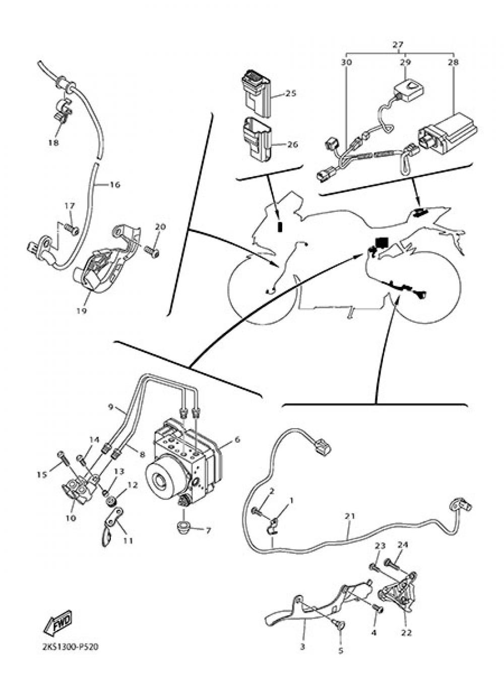ELECTRIC EQUIPMENT 3 Yamaha YZF-R1M 2015