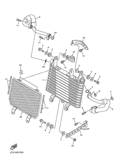 Yamaha YZF-R1M 2015 AIR COOLER