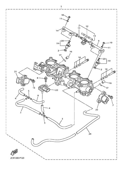Yamaha YZF-R1M 2015 INTAKE 2