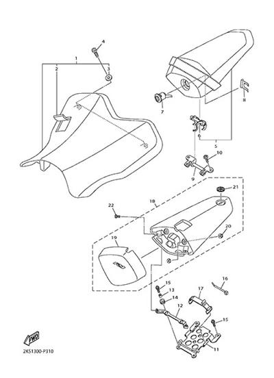 Yamaha YZF-R1M 2015 SEAT