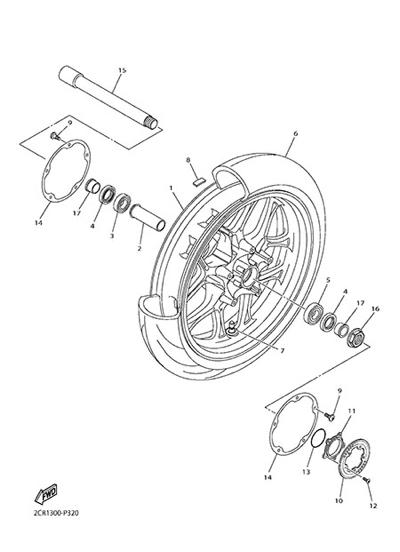 Yamaha YZF-R1M 2015 FRONT WHEEL