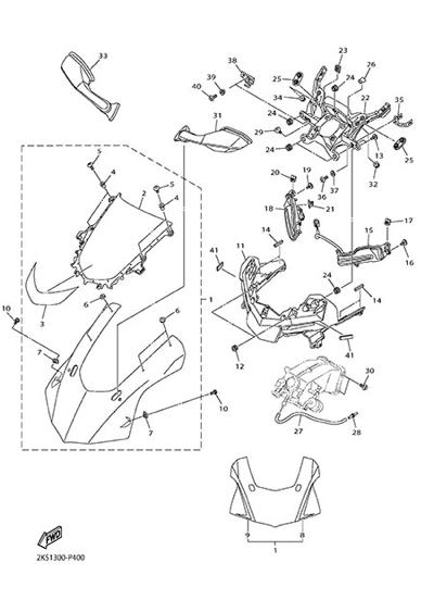 Yamaha YZF-R1M 2015 FAIRING 1