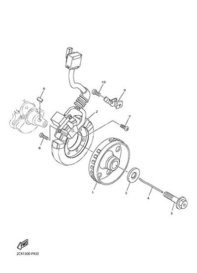 Yamaha YZF-R1M 2015 GENERATOR