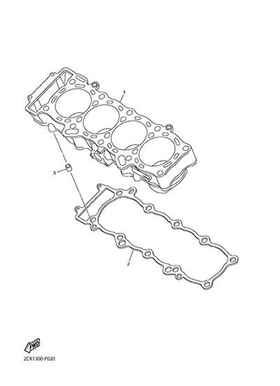 Yamaha YZF-R1M 2015 CYLINDER