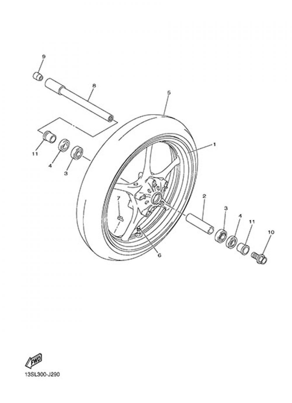 Yamaha 4XV-25117-00-00 SPACER  BEARING