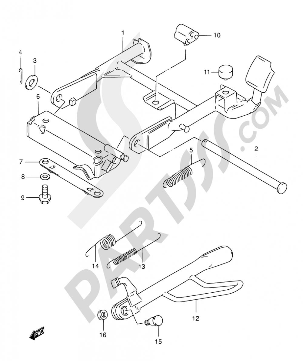 29 - STAND (MODEL S/T/V/W/X) Suzuki AN125 1997