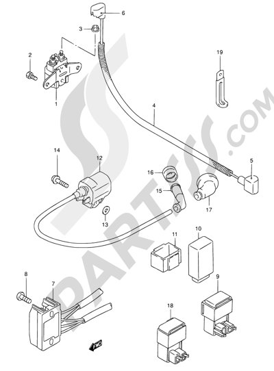 Suzuki An125 2000 Dissassembly Sheet Purchase Genuine Spare Parts