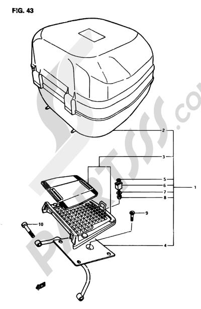 Suzuki ADRESS AP50R7 1998 43 - SADDLE BOX (OPTIONAL)