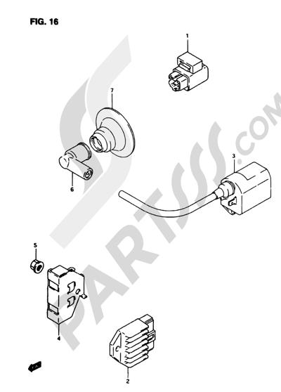 Suzuki ADRESS AP50R7 1998 16 - ELECTRICAL