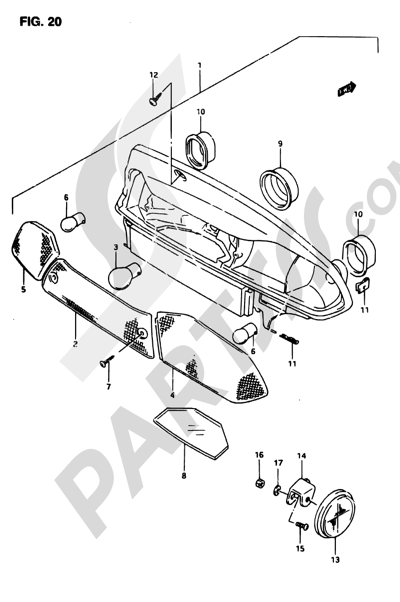 Suzuki ADRESS AP50R7 1998 20 - REAR COMBINATION LAMP