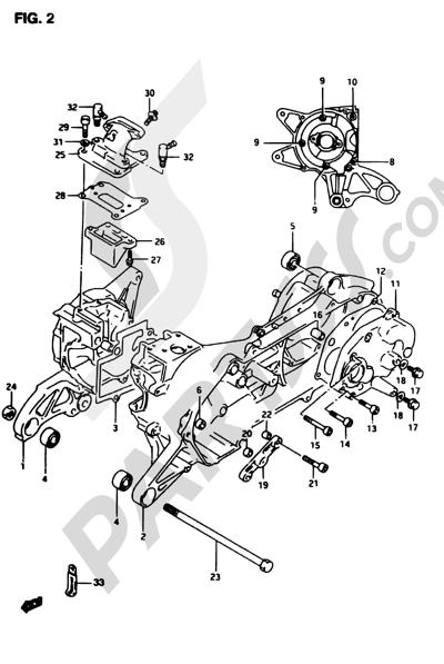 Suzuki ADRESS AP50R7 1998 2 - CRANKCASE