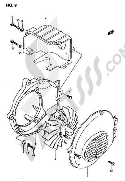 Suzuki ADRESS AP50R7 1998 9 - COOLING FAN