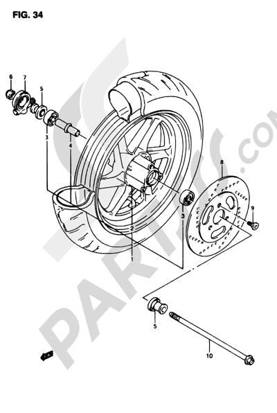 Suzuki ADRESS AP50R7 1998 34 - FRONT WHEEL